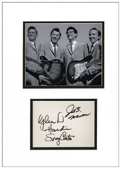 The Crickets Autograph Signed Display For Sale Buddy Holly